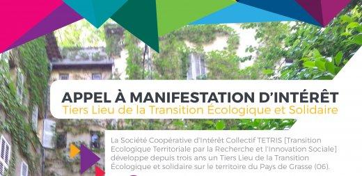Appel à Manifestation d'Intérêt pour la création d'un Tiers-Lieux de la transition écologique et solidaire à Grasse
