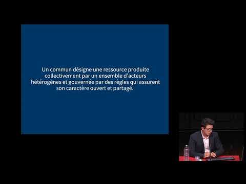 Conférence de Benjamin Jean « Penser les biens communs à l'ère du numérique » - JIAPD 2019