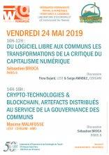 Travail & Numérique : Séminaire commun avec Territoires & Communs. 24 Mai 2019