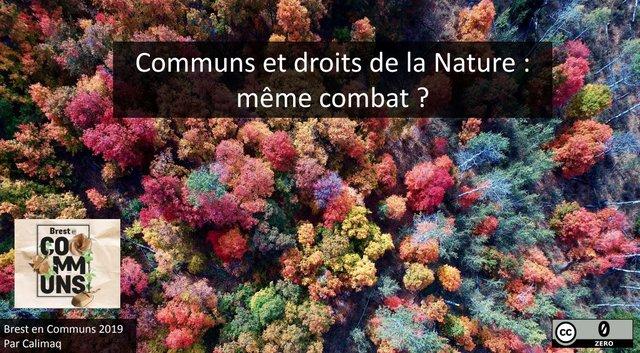 Communs et droits de la nature, même combat ? une conférence inspirante de Lionel Maurel en ouverture de Brest en communs